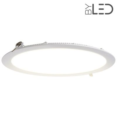 Dalle LED ronde 24 W encastrable - extra plate - SUNNY-24