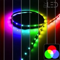 Ruban IP65 5050 - RGB - 7,2W ou 14,4W/m - 30 ou 60 LED/m - 5m