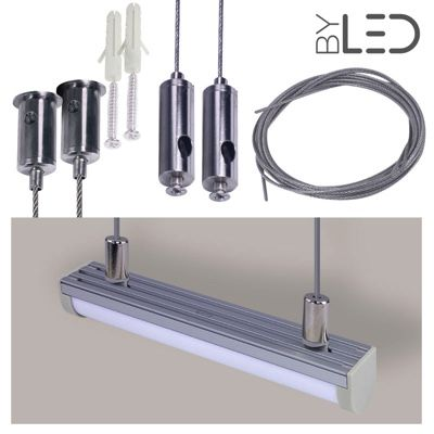 Kit suspension pour profilé LED demi-tube C13