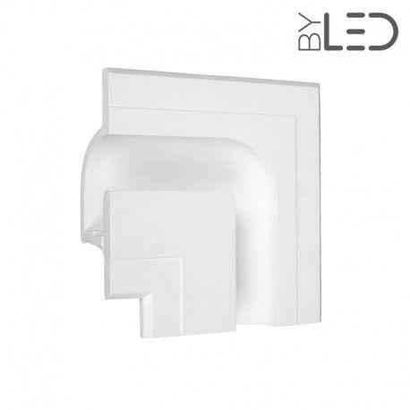 Profil linéaire d'angle intérieur en plâtre pour ruban LED STAFF