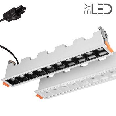 Spot LED encastrable linéaire Noir 20W - Linea