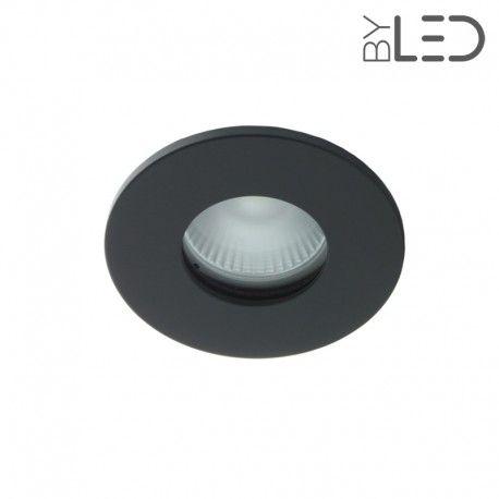 Spot encastrable collerette ronde flat SPLIT - Noir