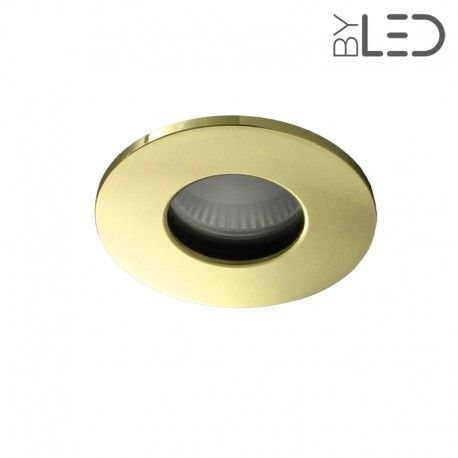 Spot encastrable collerette ronde flat SPLIT - Or brillant