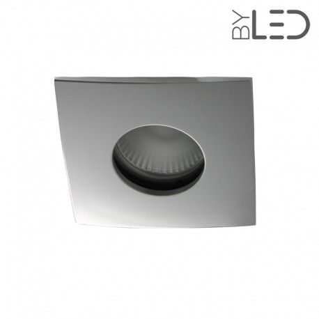 Spot encastrable collerette carrée convex SPLIT - Chrome