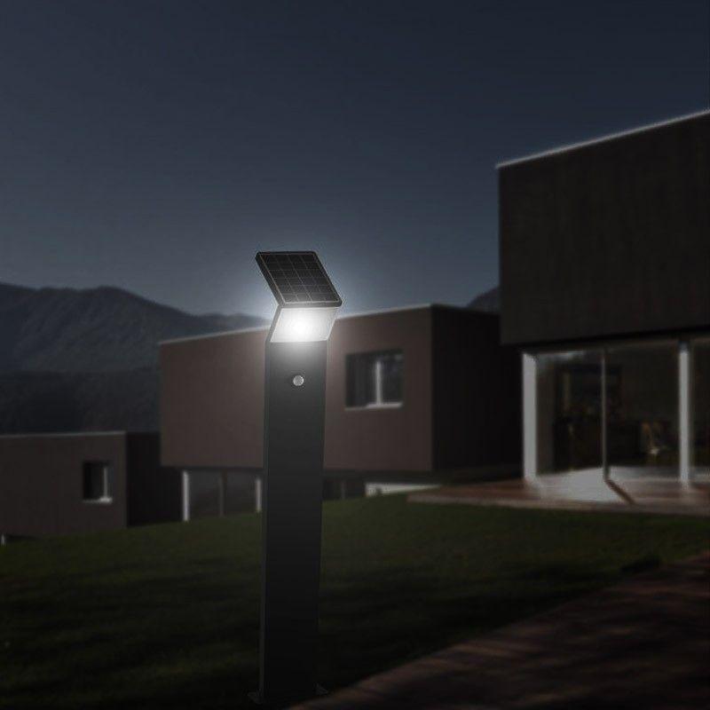 eclairage jardin led solaire ... Borne de jardin solaire LED - 80 cm u2013 Gris anthracite u2013 3W - Eclairage  Jardin ...