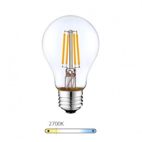 Ampoule LED à filament - Blanc Chaud – 6W - E27 - Dimmable