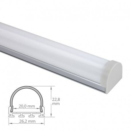 Profilé LED aluminium LED demi-tube - CRAFT - C13