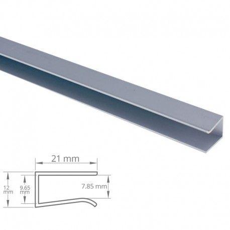 Profilé aluminium étagères en verre 8 mm pour ruban LED - CRAFT - V03
