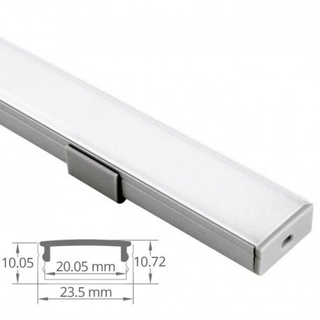 Profilé LED aluminium ruban LED large - CRAFT - C09