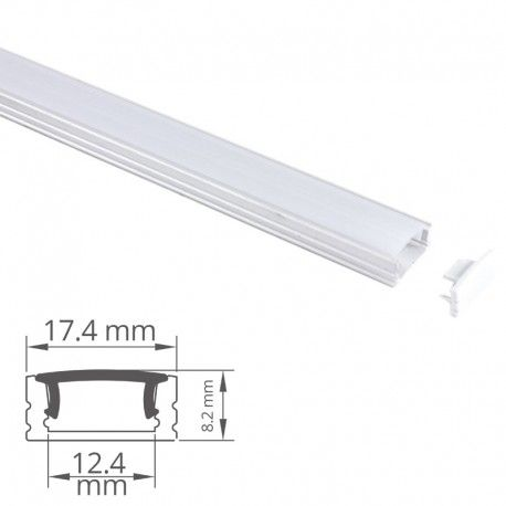 Profilé aluminium pour ruban LED - CRAFT - C06 Blanc