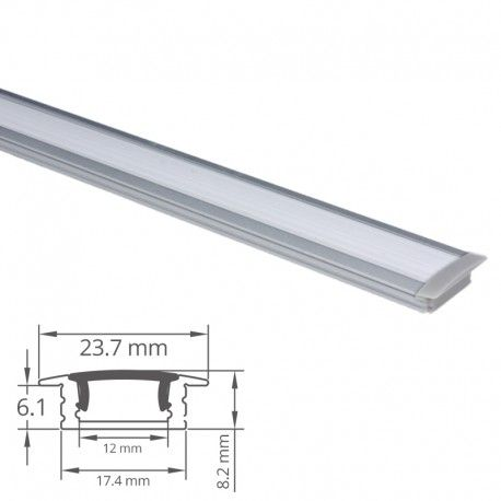Profilé aluminium encastrable pour ruban LED - CRAFT - E03