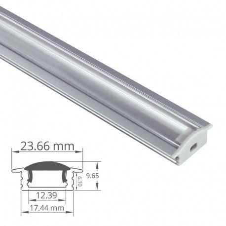 Profilé LED aluminium encastrable à diffuseur focalisé - CRAFT - E07