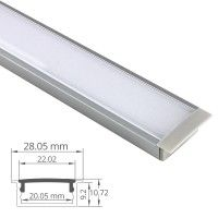 Profilé LED aluminium encastrable large - CRAFT - E08