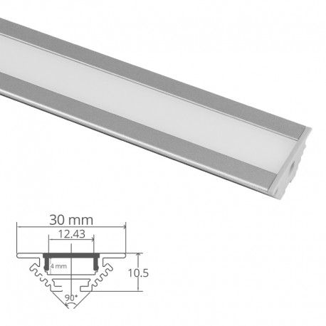 Profilé LED aluminium encastrable d'angle - CRAFT - E11