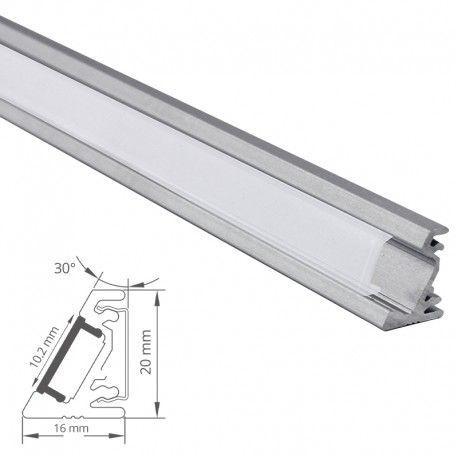 Profilé LED aluminium d'angle asymétrique - CRAFT - A05