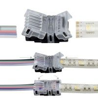 Connexion rapide ruban LED RGBW IP65 - Câble 12 mm - 5p