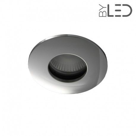 Spot encastrable collerette ronde convex SPLIT - Chrome
