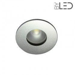 Pack collerette ronde flat SPLIT - Alu mat + support + GU10