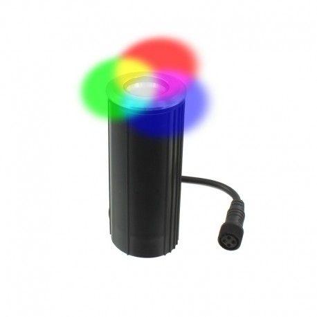 Spot LED encastré de sol inox 3W 24V - Decks 3 - RGB