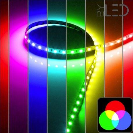 Ruban IP68 5050 - RGB - 7,2W ou 14,4W/m - 30 ou 60 LED/m - 5m