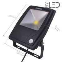 Projecteur LED Design à détecteur 50 W - 230V - RHINO