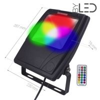 Projecteur LED Design 50 W - RGB - 230V - RHINO